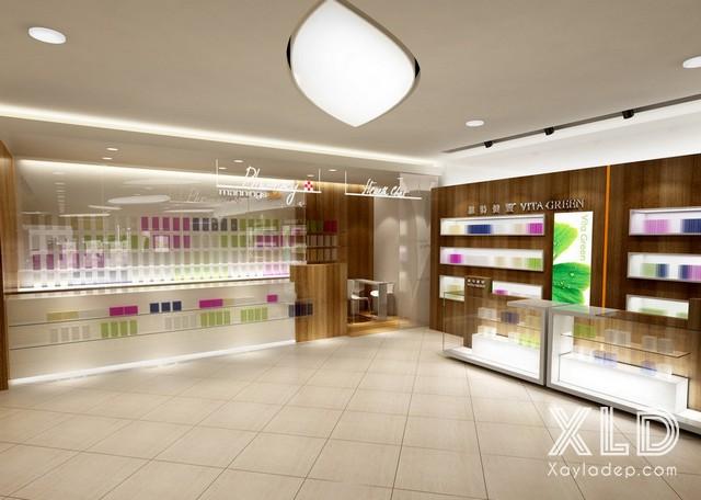 8. Thiết kế cửa hàng mỹ phẩm đẹp