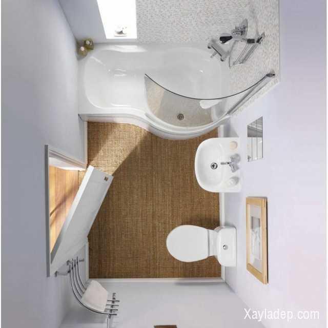 Cũng giống như thiết kế nội thất phòng khách, gam màu sáng như: trắng, ghi nhạt, kem... sẽ giúp diện tích phòng tắm trở nên rộng hơn