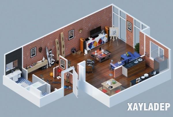 mau-thiet-ke-noi-that-chung-cu-3d-1 14 Mẫu thiết kế nội thất chung cư hiện đại đã được render 3D