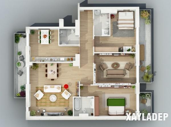 mau-thiet-ke-noi-that-chung-cu-3d-10 14 Mẫu thiết kế nội thất chung cư hiện đại đã được render 3D