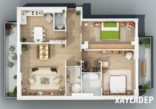 mau-thiet-ke-noi-that-chung-cu-3d-12 14 Mẫu thiết kế nội thất chung cư hiện đại đã được render 3D