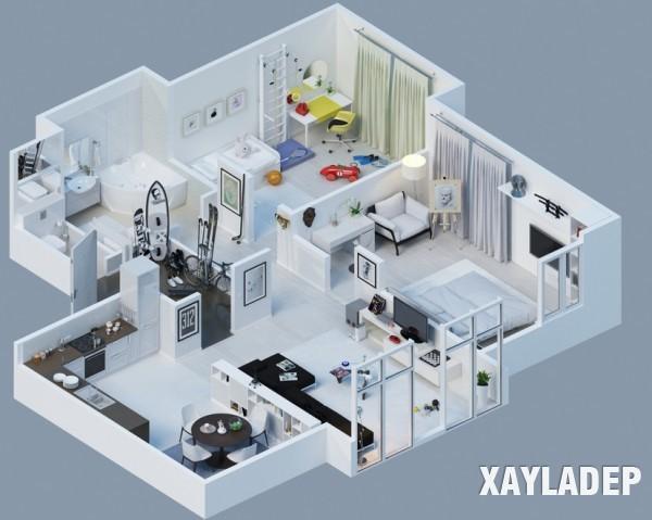 mau-thiet-ke-noi-that-chung-cu-3d-4 14 Mẫu thiết kế nội thất chung cư hiện đại đã được render 3D