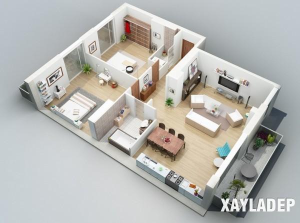 mau-thiet-ke-noi-that-chung-cu-3d-6 14 Mẫu thiết kế nội thất chung cư hiện đại đã được render 3D