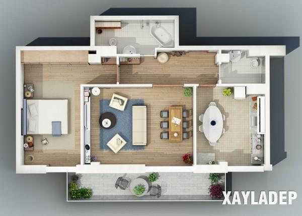 mau-thiet-ke-noi-that-chung-cu-3d-7 14 Mẫu thiết kế nội thất chung cư hiện đại đã được render 3D