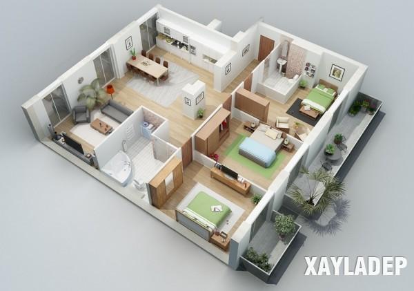 mau-thiet-ke-noi-that-chung-cu-3d-8 14 Mẫu thiết kế nội thất chung cư hiện đại đã được render 3D