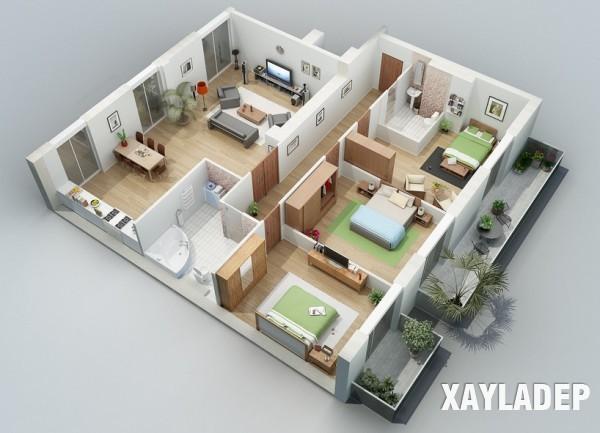 mau-thiet-ke-noi-that-chung-cu-3d-9 14 Mẫu thiết kế nội thất chung cư hiện đại đã được render 3D