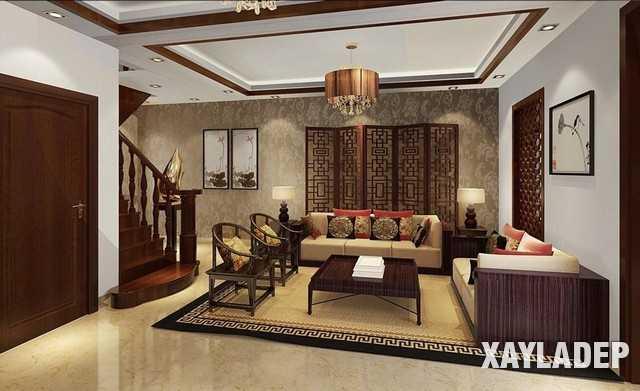 noi-that-phong-khach-trung-quoc-3 20 Mẫu thiết kế nội thất phòng khách Trung Hoa cổ điển tuyệt đẹp