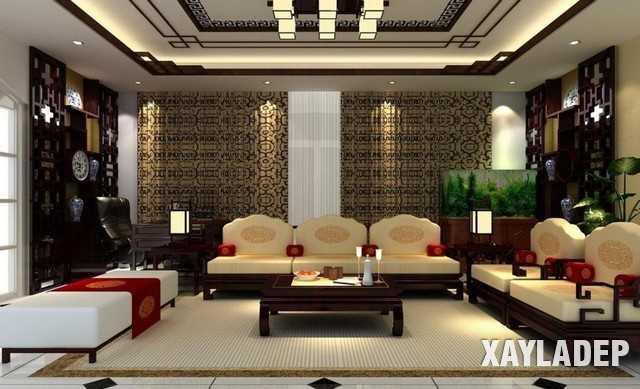 Sofa hình chữ U mang đến một vẻ trang trọng