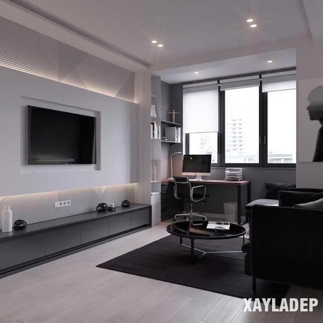 thiet-ke-noi-thatchung-cu-45m2-1 Thiết kế nội thất chung cư 45 m2 phong cách hiện đại và thanh lịch