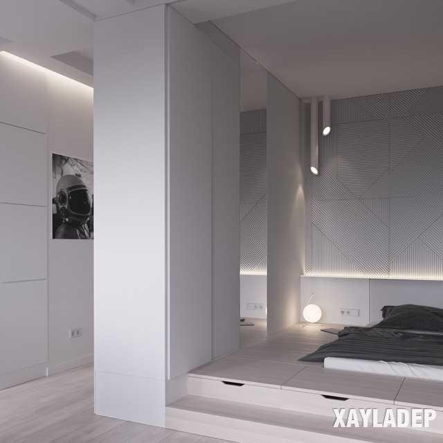 thiet-ke-noi-thatchung-cu-45m2-16 Thiết kế nội thất chung cư 45 m2 phong cách hiện đại và thanh lịch
