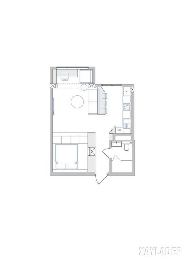 thiet-ke-noi-thatchung-cu-45m2-17 Thiết kế nội thất chung cư 45 m2 phong cách hiện đại và thanh lịch