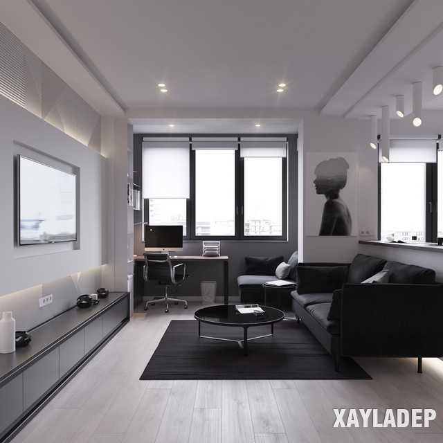 thiet-ke-noi-thatchung-cu-45m2-2 Thiết kế nội thất chung cư 45 m2 phong cách hiện đại và thanh lịch