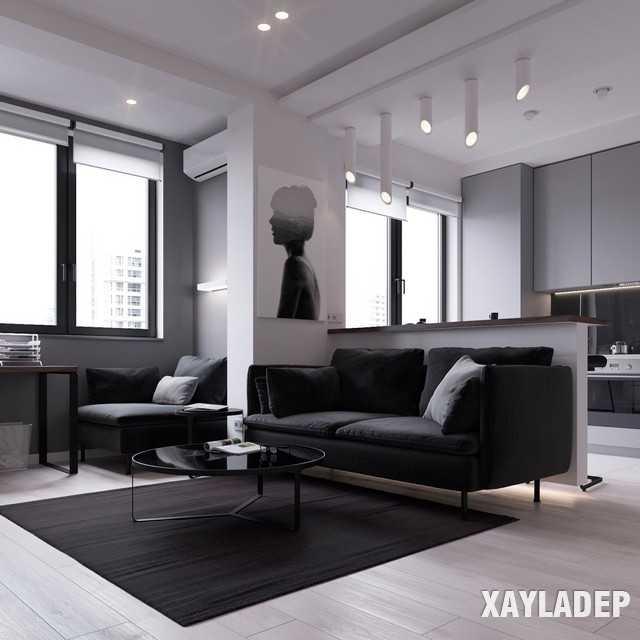 thiet-ke-noi-thatchung-cu-45m2-4 Thiết kế nội thất chung cư 45 m2 phong cách hiện đại và thanh lịch
