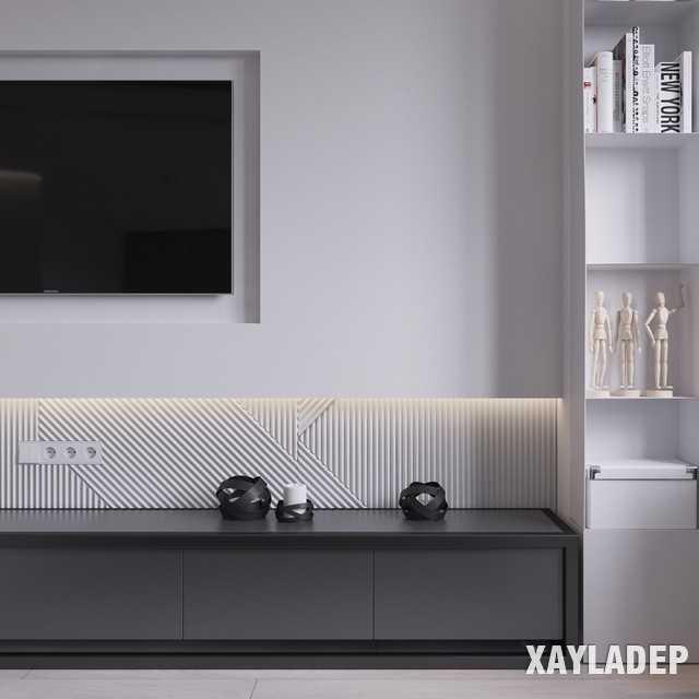 thiet-ke-noi-thatchung-cu-45m2-5 Thiết kế nội thất chung cư 45 m2 phong cách hiện đại và thanh lịch