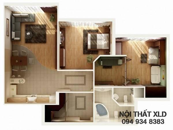 mau-thiet-ke-noi-that-chung-cu-2-phong-ngu-phan-1-10 50 Mẫu thiết kế căn hộ chung cư 2 phòng ngủ tiện nghi (Phần 1)