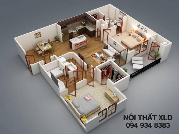 50 Mẫu thiết kế nhà riêng/ chung cư 2 phòng ngủ tiện nghi - 2