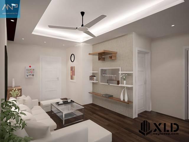 Thiết kế nội thất chung cư HH4A Linh Đàm 60m2 với 2 phòng ngủ tiện nghiThiết kế nội thất chung cư HH4A Linh Đàm 60m2 với 2 phòng ngủ tiện nghi