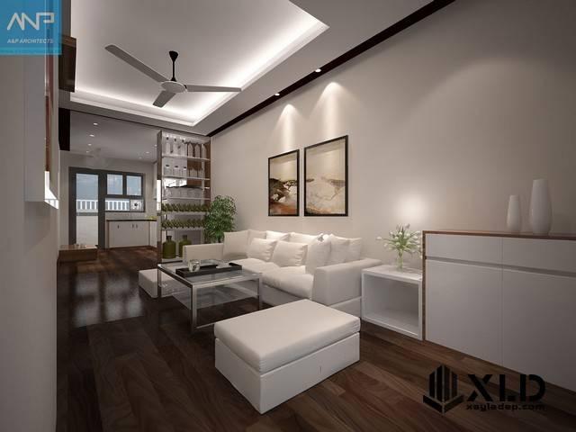 Thiết kế nội thất chung cư HH4A Linh Đàm 60m2 với 2 phòng ngủ tiện nghi -2