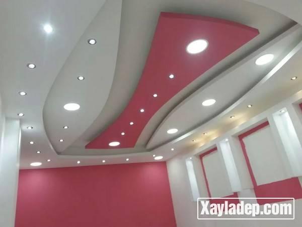 Mẫu trần thạch cao phòng khách đẹp 2017 - Mẫu 18
