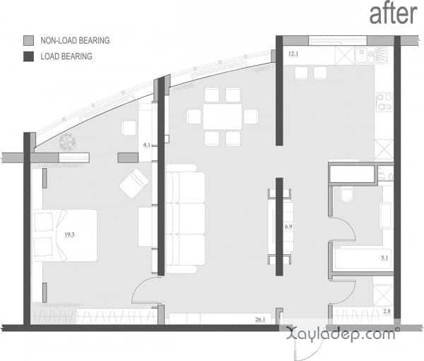 Mặt bằng bố trí các phòng của chung cư Vinhomes Sky Lake