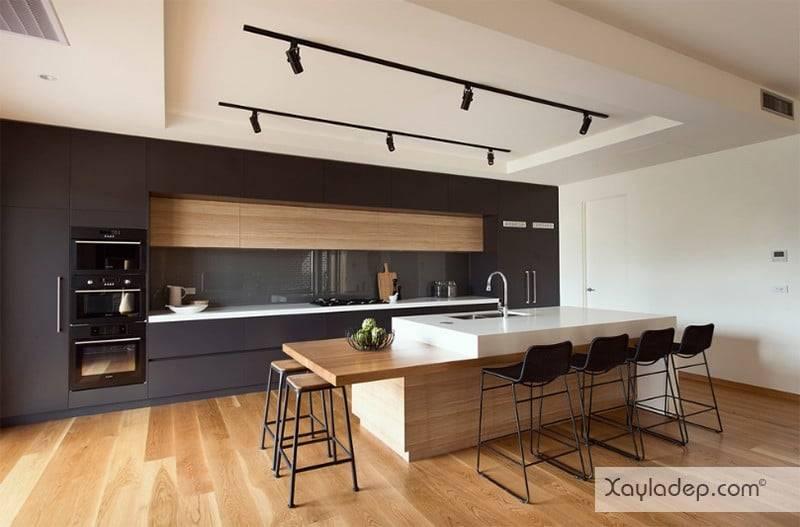 phong-bep-voi-go-va-mau-den-10 22 Mẫu thiết kế phòng bếp ấn tượng kết hợp giữa gỗ và gam màu đen