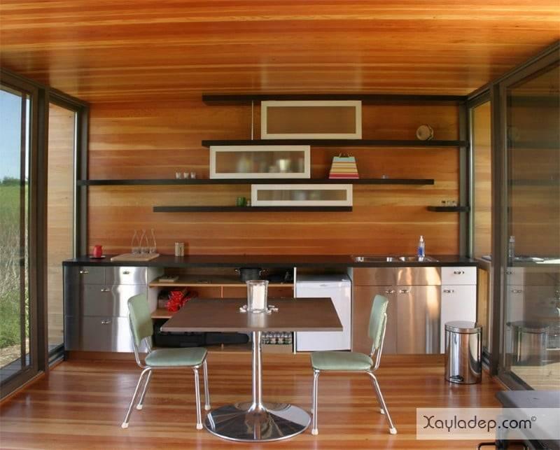 phong-bep-voi-go-va-mau-den-11 22 Mẫu thiết kế phòng bếp ấn tượng kết hợp giữa gỗ và gam màu đen