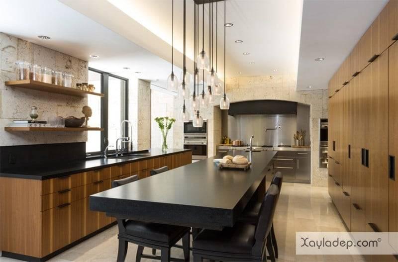 phong-bep-voi-go-va-mau-den-12 22 Mẫu thiết kế phòng bếp ấn tượng kết hợp giữa gỗ và gam màu đen
