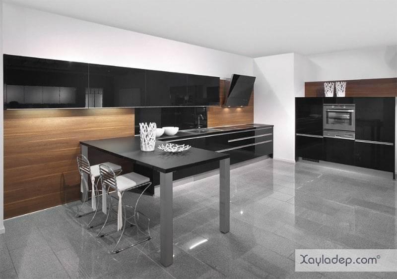 phong-bep-voi-go-va-mau-den-13 22 Mẫu thiết kế phòng bếp ấn tượng kết hợp giữa gỗ và gam màu đen