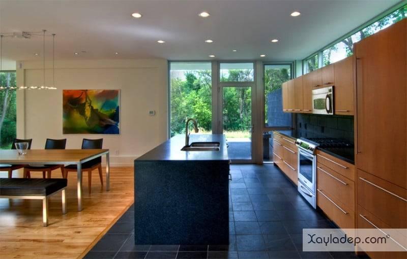 phong-bep-voi-go-va-mau-den-16 22 Mẫu thiết kế phòng bếp ấn tượng kết hợp giữa gỗ và gam màu đen
