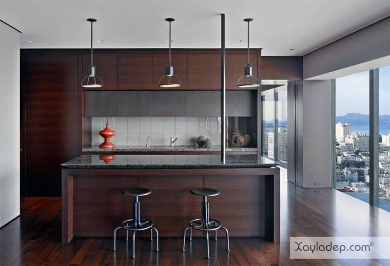 phong-bep-voi-go-va-mau-den-19 22 Mẫu thiết kế phòng bếp ấn tượng kết hợp giữa gỗ và gam màu đen