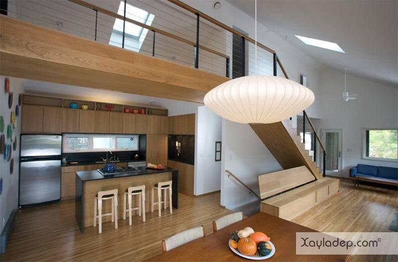 phong-bep-voi-go-va-mau-den-2 22 Mẫu thiết kế phòng bếp ấn tượng kết hợp giữa gỗ và gam màu đen