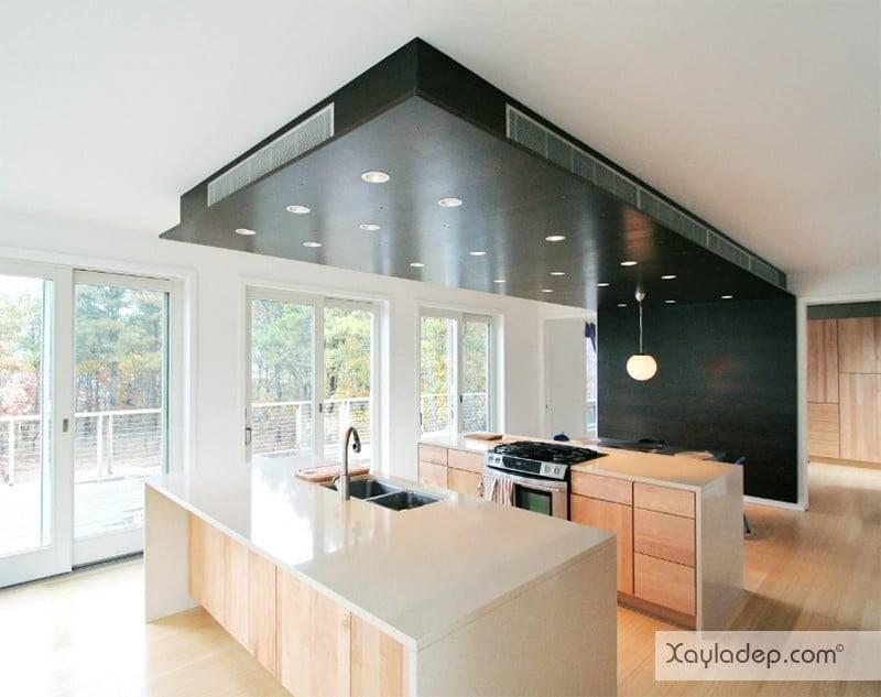 phong-bep-voi-go-va-mau-den-3 22 Mẫu thiết kế phòng bếp ấn tượng kết hợp giữa gỗ và gam màu đen