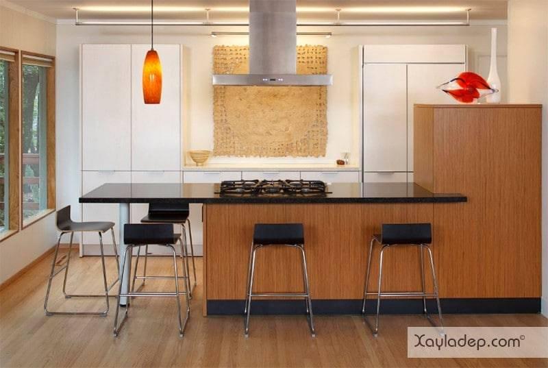 phong-bep-voi-go-va-mau-den-5 22 Mẫu thiết kế phòng bếp ấn tượng kết hợp giữa gỗ và gam màu đen