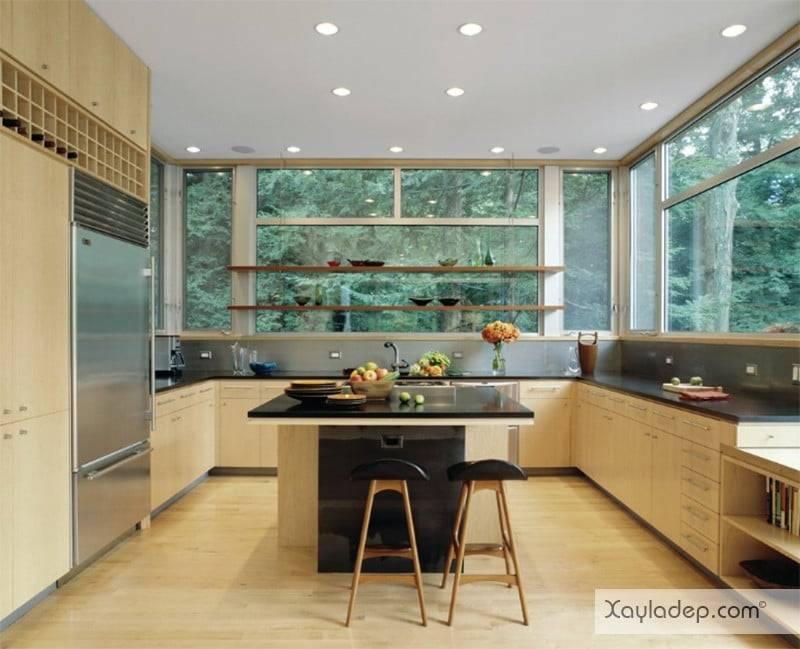 phong-bep-voi-go-va-mau-den-6 22 Mẫu thiết kế phòng bếp ấn tượng kết hợp giữa gỗ và gam màu đen