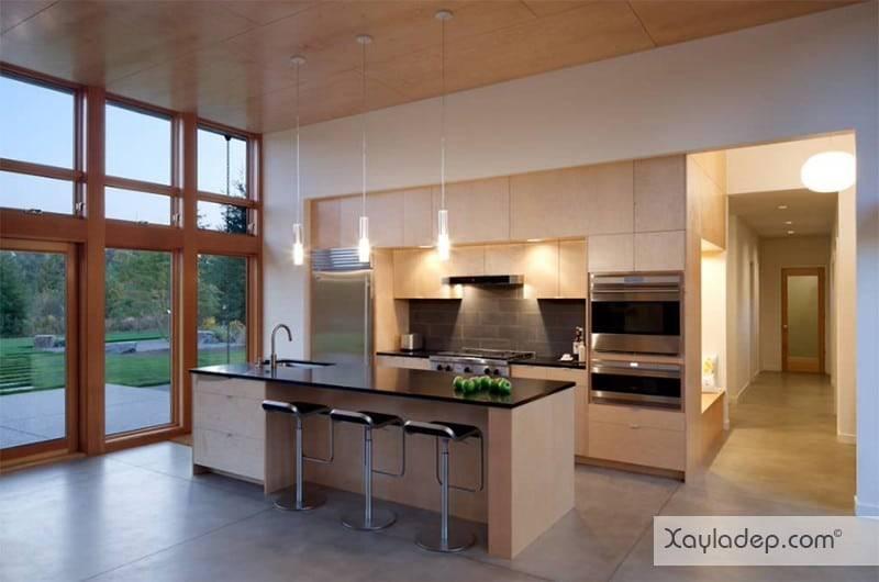 phong-bep-voi-go-va-mau-den-7 22 Mẫu thiết kế phòng bếp ấn tượng kết hợp giữa gỗ và gam màu đen
