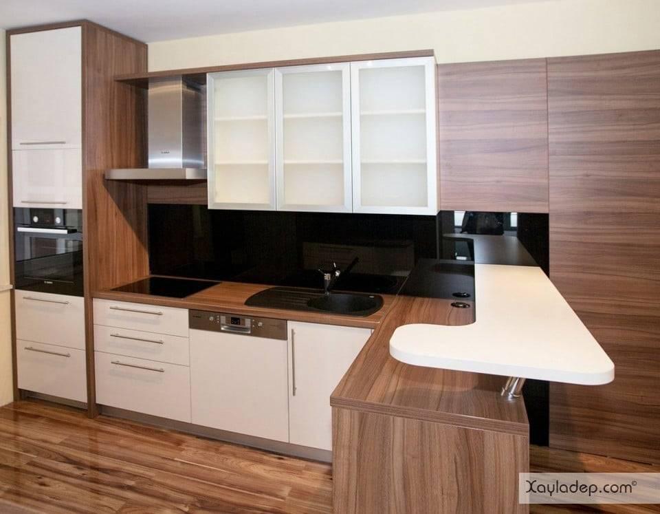 9. giá tủ bếp gỗ tự nhiên thường đắt hơn gỗ công nghiệp, vì thế nếu bạn không quá dư giả, gỗ công nghiệp là sự lựa chọn không tồi