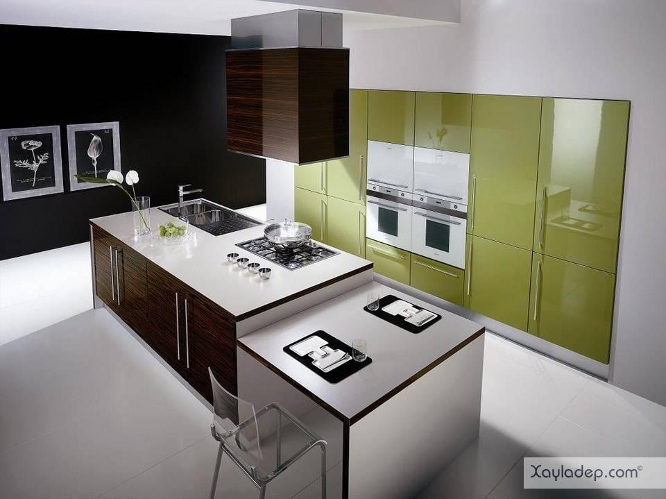 9. một mẫu tủ bếp đẹp còn phù thuộc vào không gian của phòng bếp