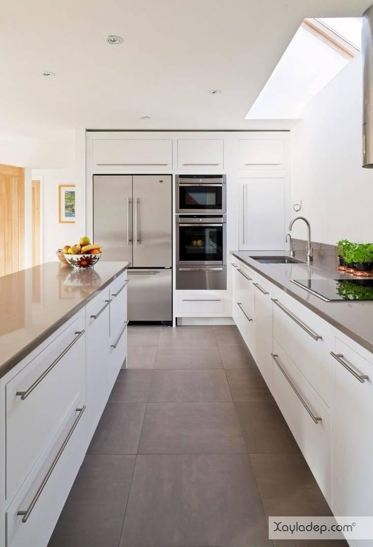 7. tủ bếp chất liệu acrylic có độ bền cao và an toàn trong quá trình sử dụng