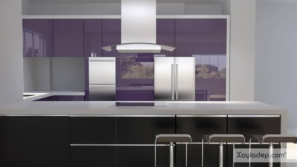 5. tủ bếp acrylic An Cường nghĩa là sử dụng các nguyên liệu được cung cấp bởi công ty An Cường