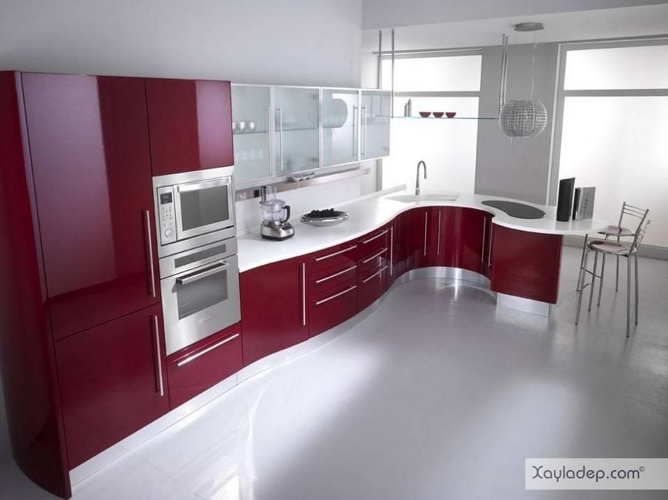 4. giá tủ bếp acrylic phụ thuộc vào chất liệu bên trong chứ không phải riêng tấm acrylic