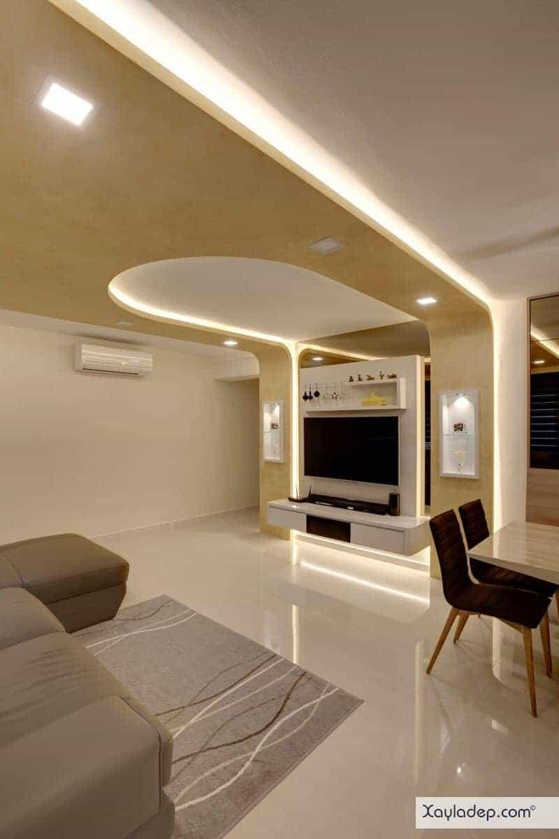15-mau-tran-thach-cao-phong-khach-2017-15 Đón nắng hè với các mẫu trần thạch cao phòng khách mới nhất