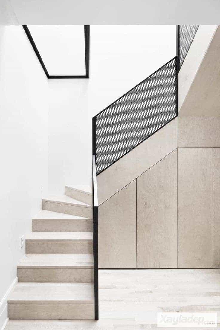 9 | Mẫu cầu thang gỗ hiện đại