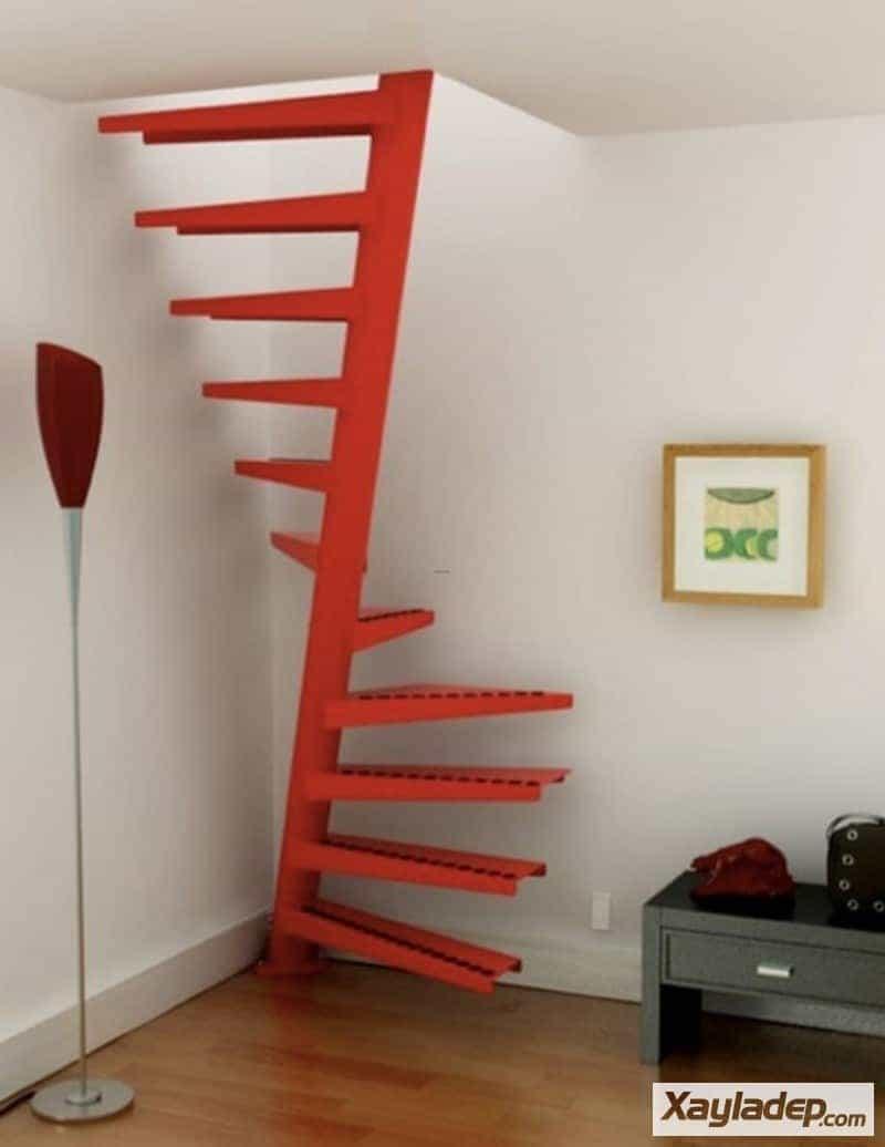 10 | Mẫu cầu thang sắt cho các căn hộ nhỏ