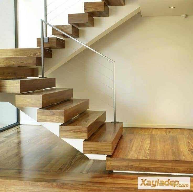 Mẫu cầu thang này không có gờ bậc thang