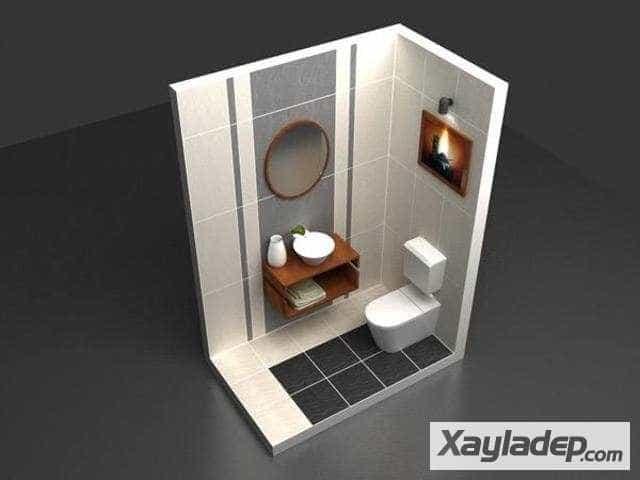 ốp gạch nhà tắm, Cách lựa chọn gạch ốp tường nhà tắm và cách ốp gạch nhà tắm đẹp, Nhà đẹp