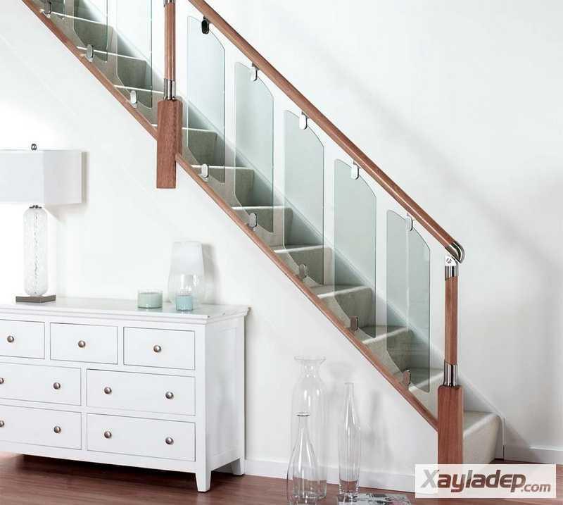 cầu thang kính, 15 thiết kế cầu thang kính cho căn hộ thêm sang trọng, Nhà đẹp