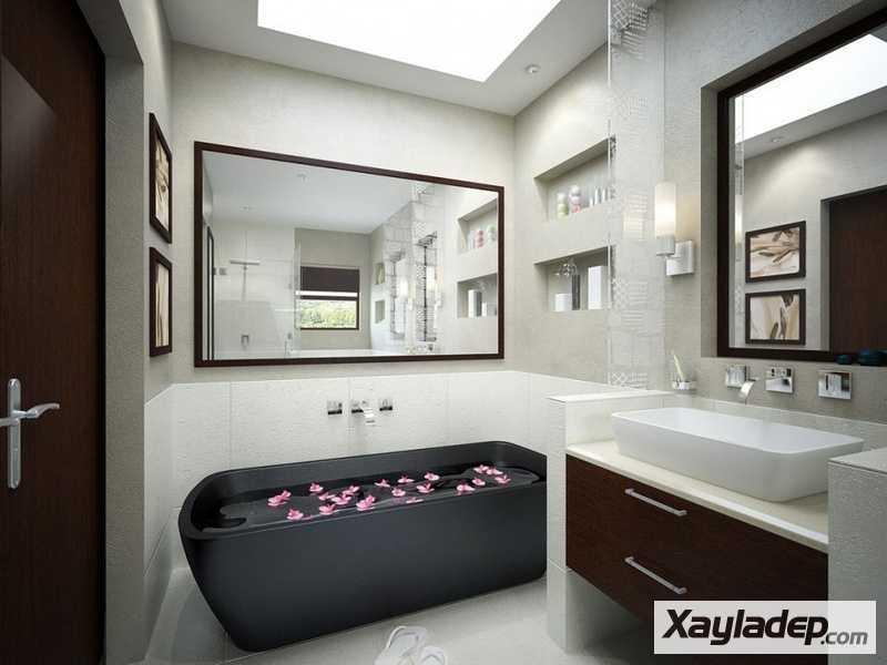 Các mẫu phòng vệ sinh đẹp hiện đại đơn giản và ấn tượng 22