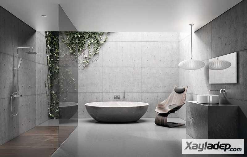 Các mẫu phòng vệ sinh đẹp hiện đại đơn giản và ấn tượng 23
