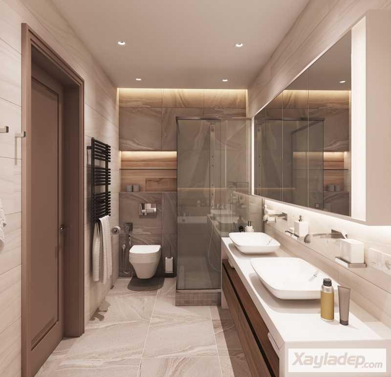 Các mẫu phòng vệ sinh đẹp hiện đại đơn giản và ấn tượng 24