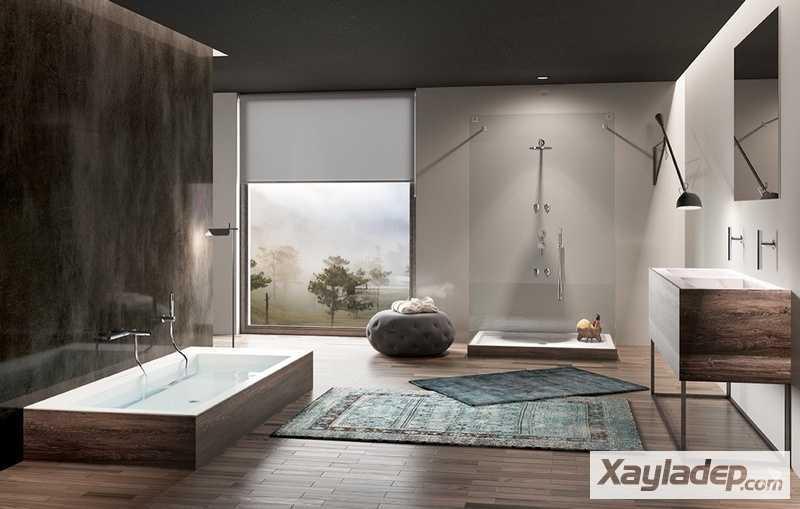 Các mẫu phòng vệ sinh đẹp hiện đại đơn giản và ấn tượng 28